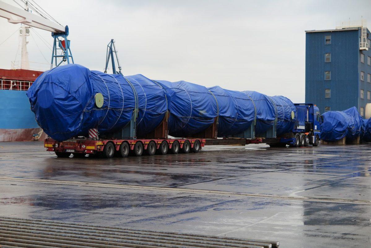 izredni prevoz 40 metrov raztegljiva prikolica comark