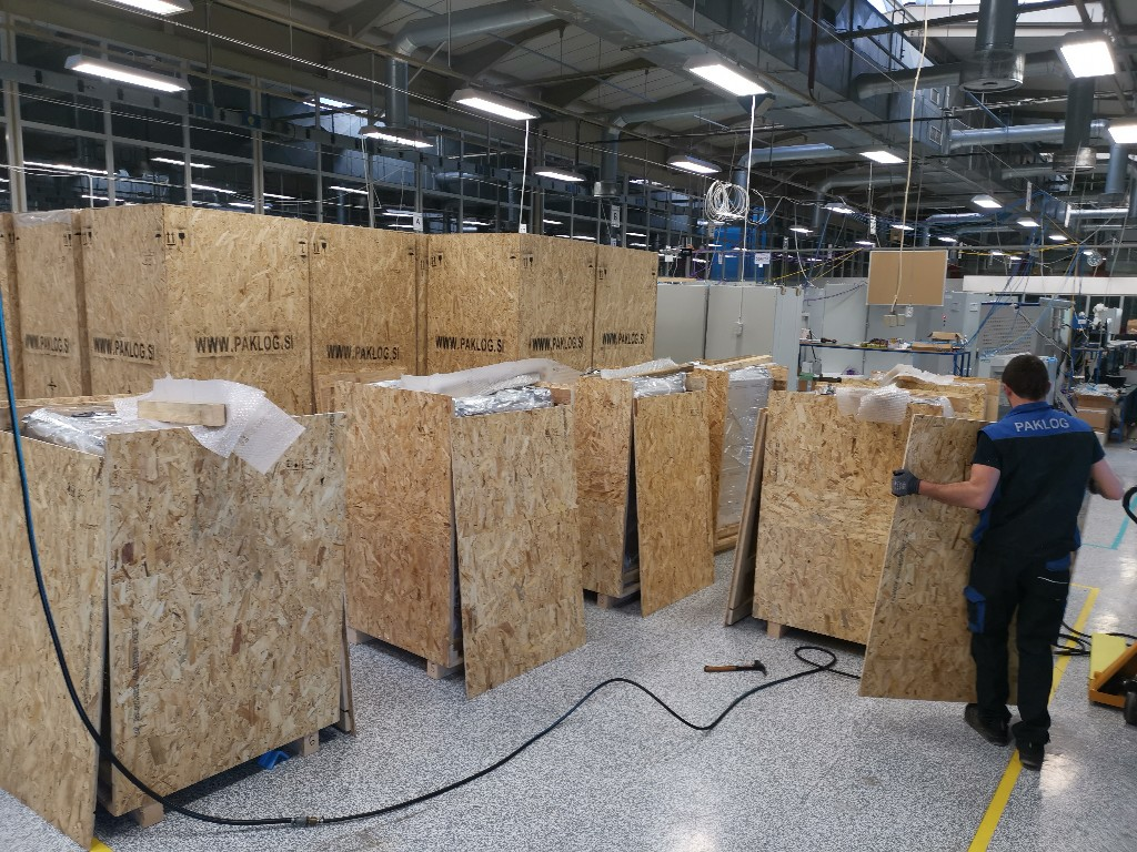 pakiranje tovora OSB zaboj terenska enota comark