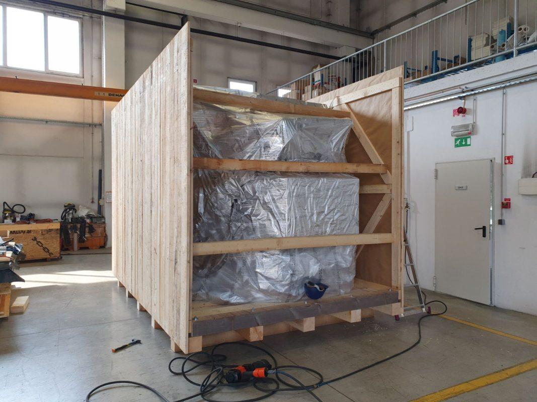 pakiranje tovora prekomorsko vakuum lesen zaboj comark