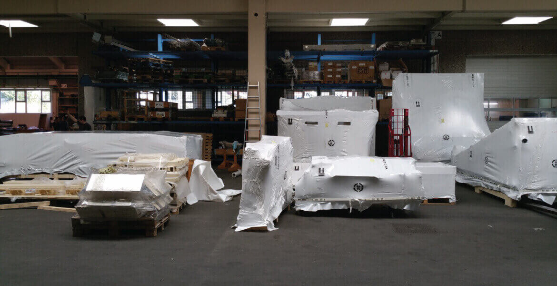 pakiranje tovora termoskrcljiva folija shrink wrap teren comark