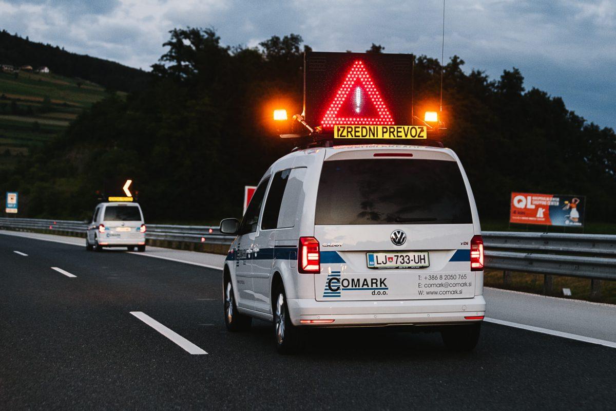 spremstvo izredni prevoz comark slovenija avtocesta