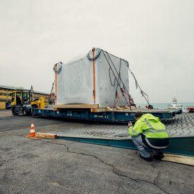 projektni tovor presa shrink wrap folija luka koper roro comark 1