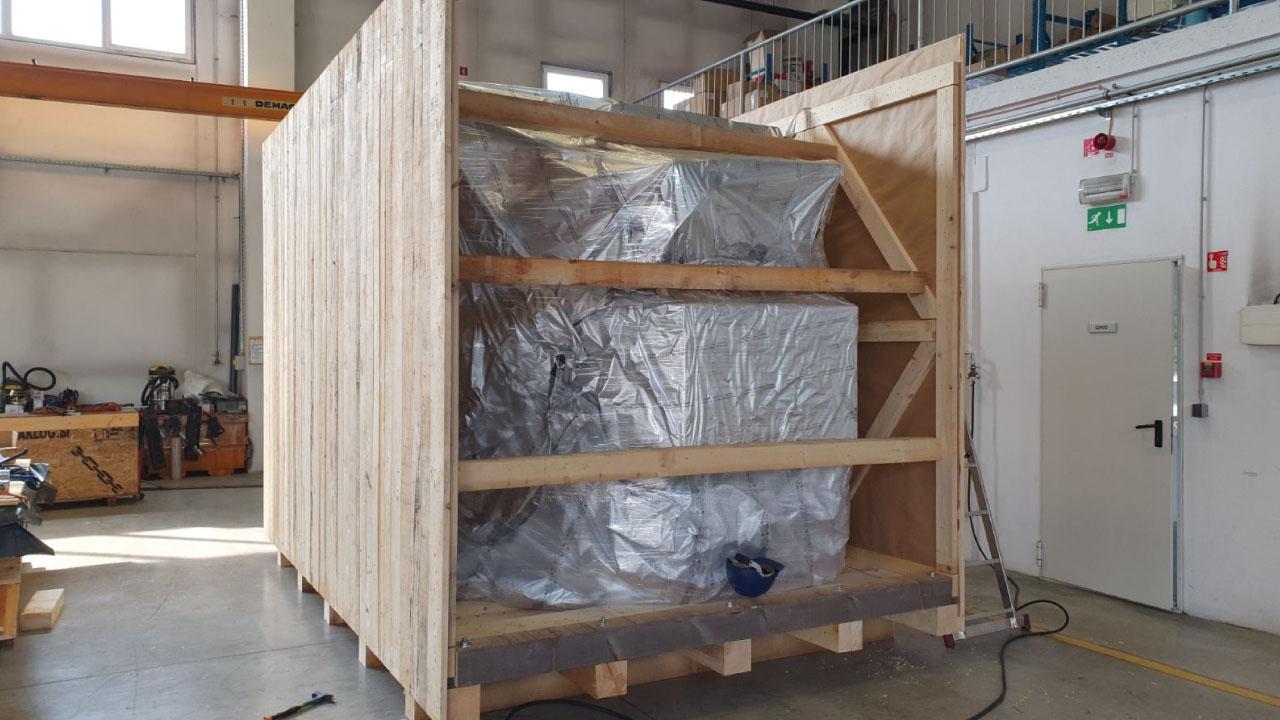 pakiranje tovora prekomorsko vakuum lesen zaboj comark 1