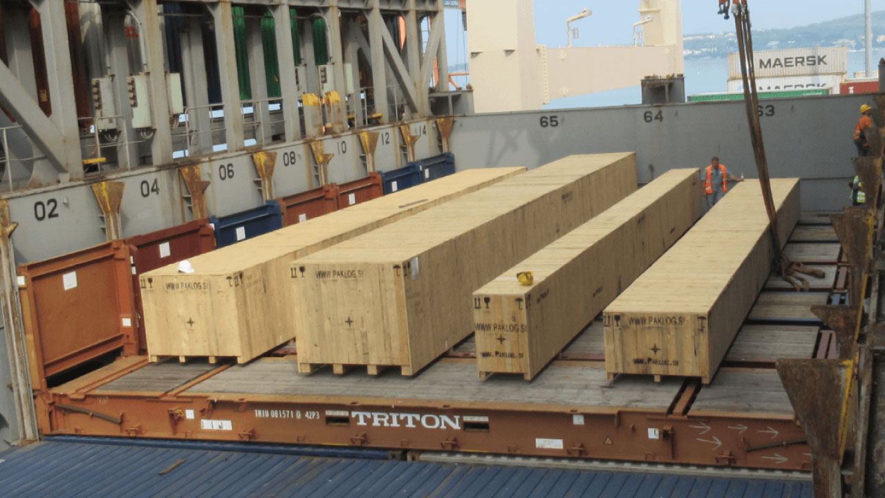 projektni tovor comark slovenija flatrack kontejner leseni zaboji