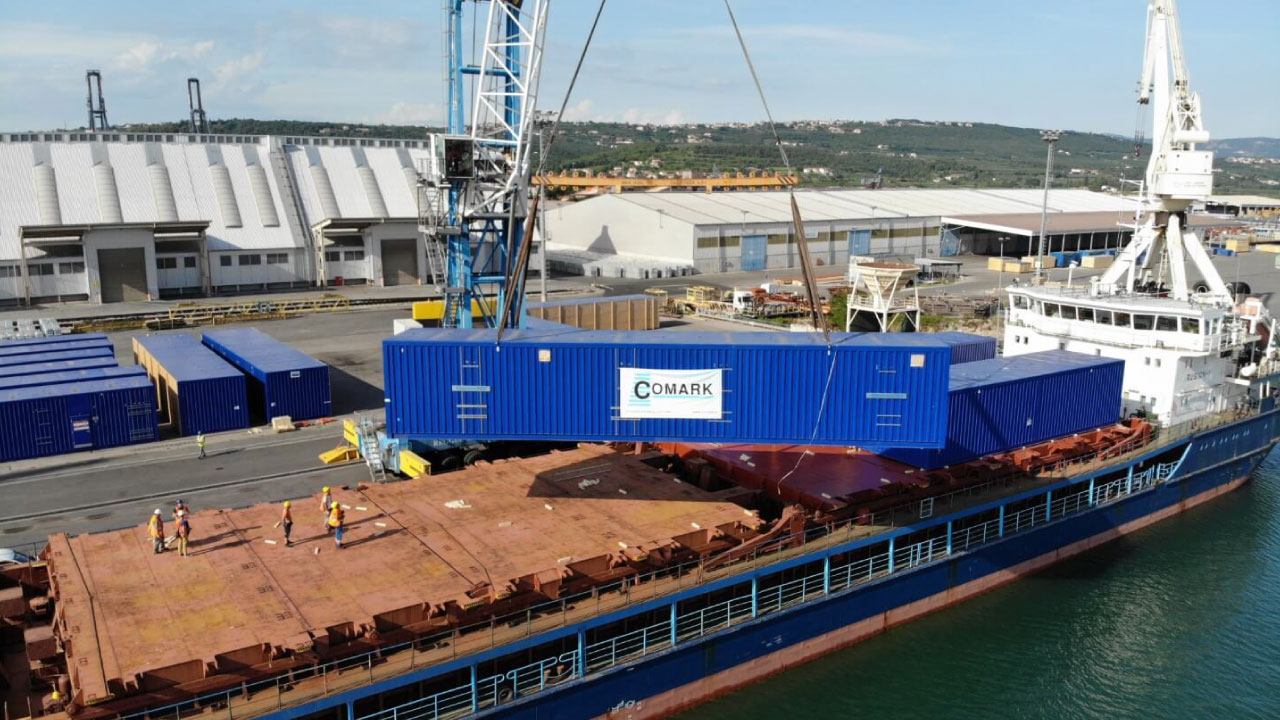 projektni tovor comark slovenija kontejner charter ladja