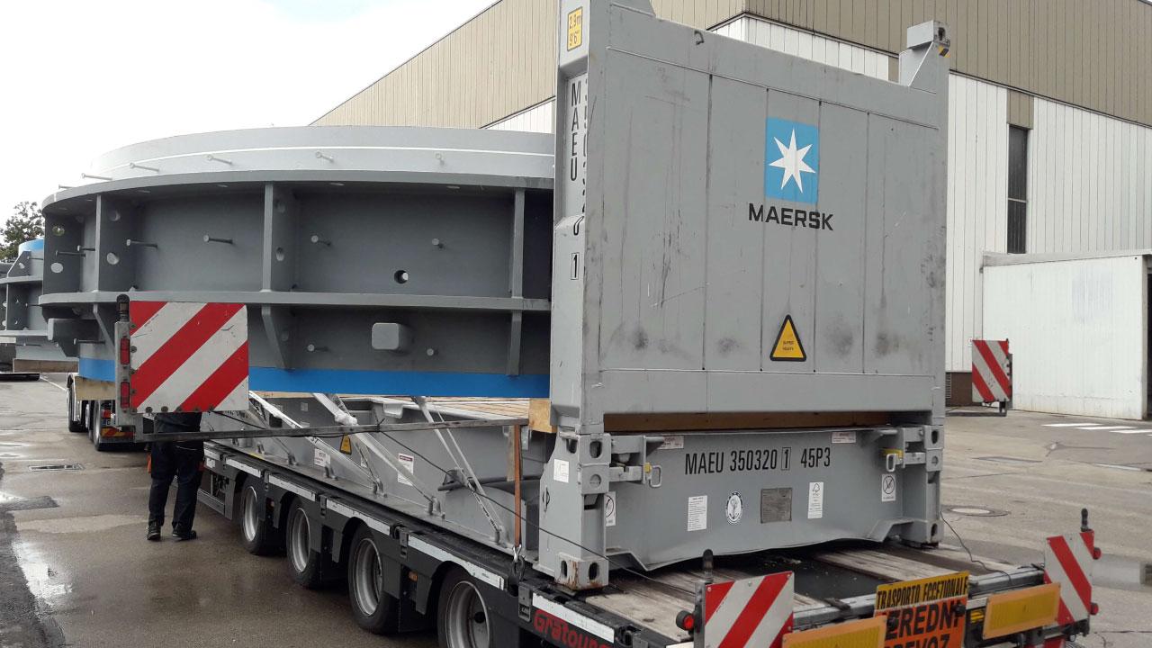 projektni tovor comark slovenija kontejner flat rack izredni prevoz