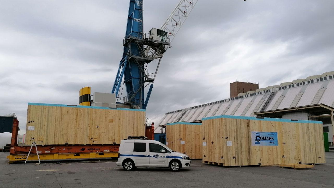 projektni tovor comark slovenija roro luka koper prekomorsko pakiranje