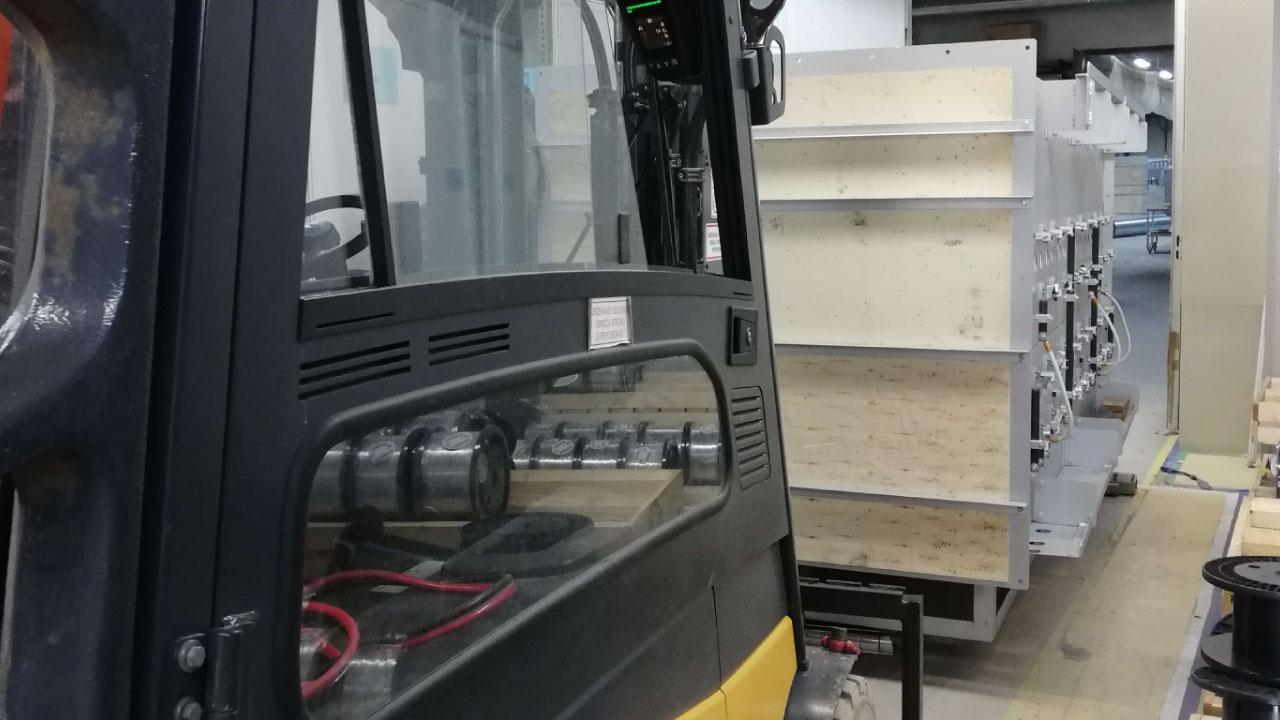 selitev opreme RAL comark slovenija demontaza montaza vnos dvig breme