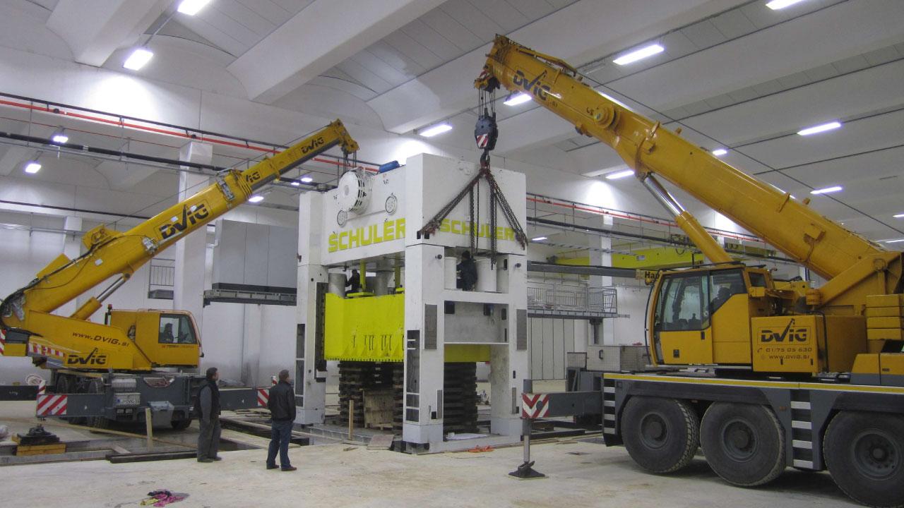 selitev opreme RAL comark slovenija temelji postavitev