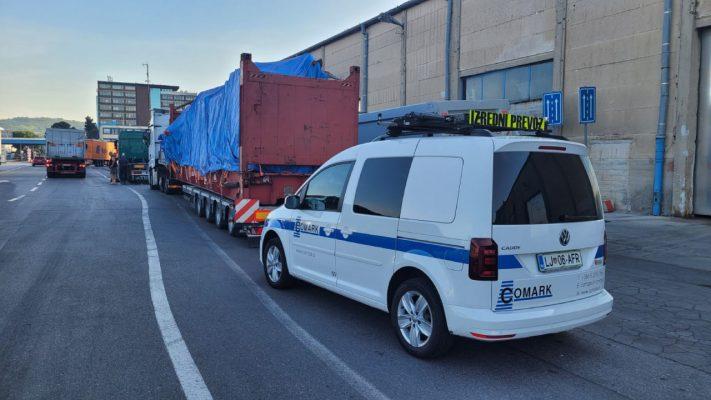 izredni prevozi oversized load comark slovenia eu escort permits